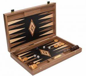 Alexandros Deluxe Walnut & Oak Backgammon Set