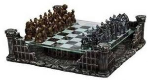 "16.25"" Roman Gladiators 3D Chess Set"