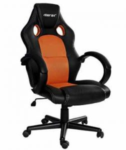 Merax Executive Home Office Chair Racing Style Gaming Chair PU Leather Swivel Computer and Office Desk Chair