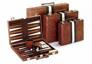 Recreational Board Game Vinyl Backgammon Set