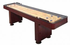 Shuffleboard Table 12 Ft Set Hardwood Block Surface