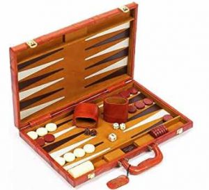 Viscount Leather Backgammon Set
