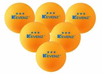 50-Pack Orang KEVENZ 3-Star 40mm Table Tennis Balls