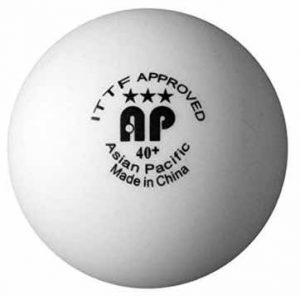 Asian Pacific 40+ Seamless Poly Table Tennis Balls