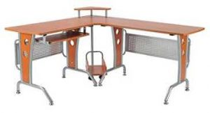 HomCom 61 in. Modern L-Shaped Office Workstation