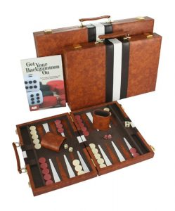 number 1 top backgammon set and case