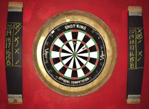 How to clean a dart board