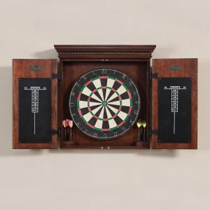 american heritage cavalier dartboard cabinet open