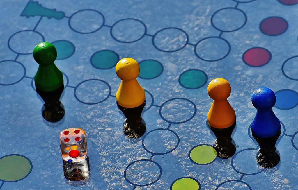board game with pawns
